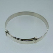 Sterling Silver Plain expanding Baby Bangle 5.9g